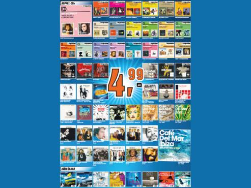 Doppel-CDs und Hörbücher ©Saturn