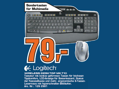 Logitech Wireless Desktop MK710 © Saturn