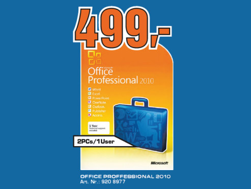 Microsoft Office Professional 2010 © Saturn