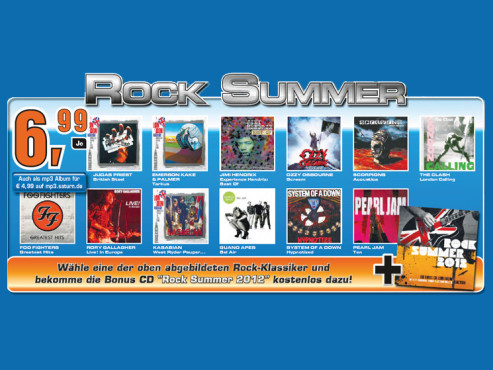 Musik-Album mit Rock Summer 2012 © Saturn