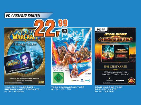 Prepaid-Karten für diverse Online-Spiele ©Saturn