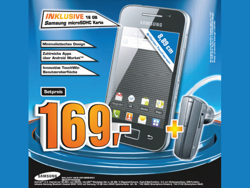 Samsung Galaxy Ace (GT-S5830i) © Saturn