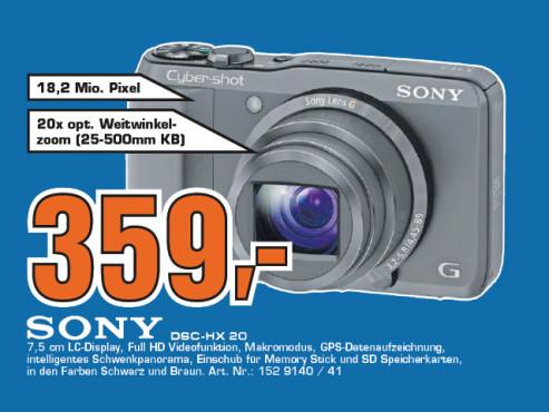 Sony Cyber-shot DSC-HX 20V ©Saturn