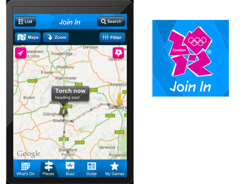 Join In App für London 2012 ©The London Organising Committee of the Olympic Games and Paralympic Games