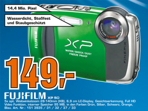 Fujifilm FinePix XP 50 © Saturn