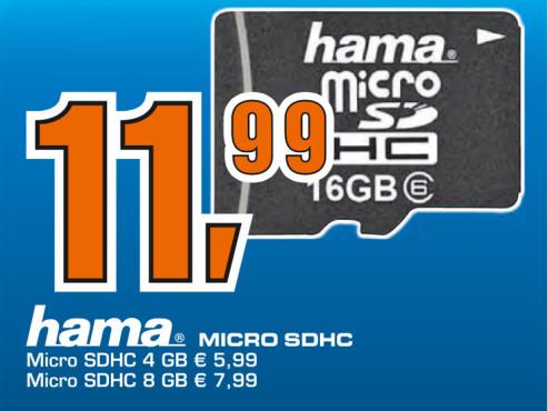 Hama microSDHC Card 16 GB Class 6 ©Saturn