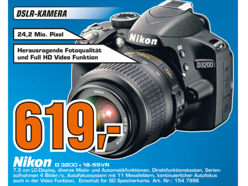 Nikon D3200 Kit 18-55 mm © Saturn