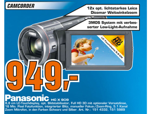 Panasonic HC-X909 © Saturn