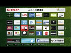 Internetanwendungen Sharp LC-40LE540E ©COMPUTER BILD