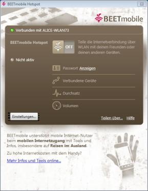 Beetmobile Hotspot-App