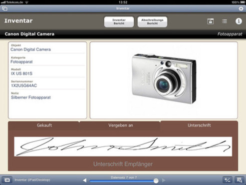 Screenshot Filemaker Go © COMPUTER BILD