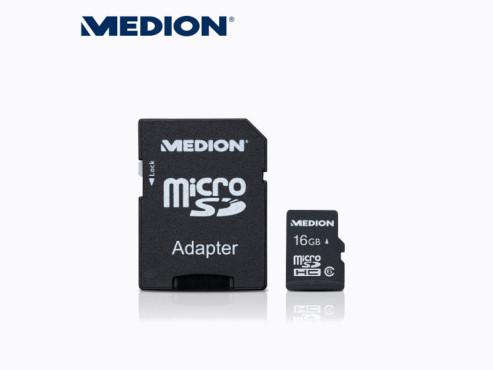 Medion E89067 (MD 86604) 16 GB microSDHC-Speicherkarte (erhältlich ab 26. Juli bei Aldi Nord) ©Aldi Nord