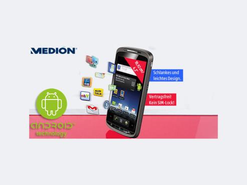 Medion P4310 (MD98910) Smartphone (erhältlich ab 30. Juli bei Aldi Süd) ©Aldi Süd