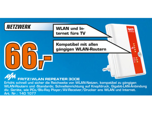 AVM Fritz!WLAN Repeater 300E © Saturn