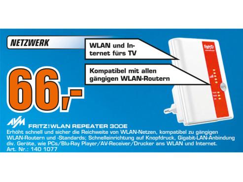 AVM Fritz!WLAN Repeater 300E ©Saturn