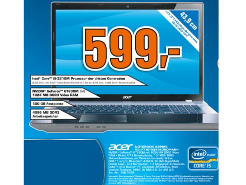 Acer Aspire V3-771G-53214G50Makk (NX.RYNEG.005) ©Saturn