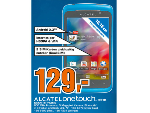 Alcatel One Touch 991D © Saturn