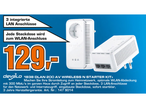 Devolo dLAN 200 AV Wireless N Starter Kit+ © Saturn