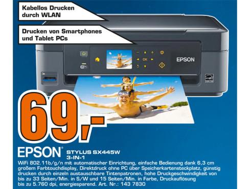 Epson Stylus SX445W ©Saturn