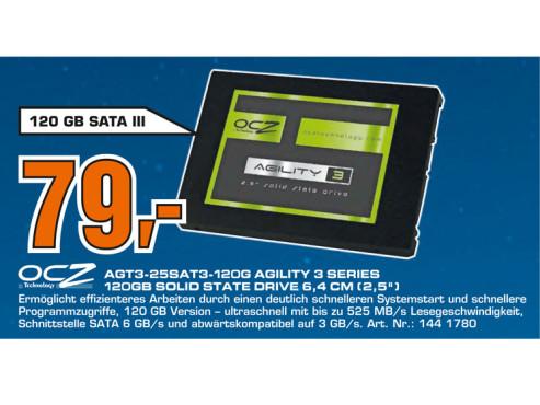 OCZ Agility 3 120GB SATA III 2.5 SSD ©Saturn