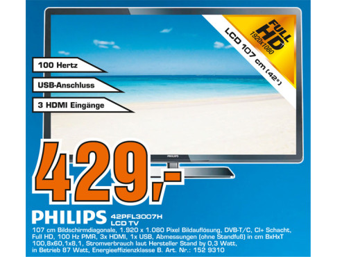 Philips 42pfl3007H © Saturn