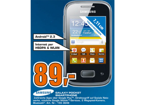 Samsung Galaxy Pocket (S5300) ©Saturn