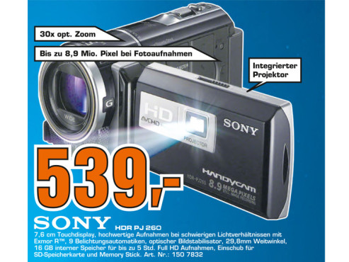 Sony HDR-PJ260VE © Saturn