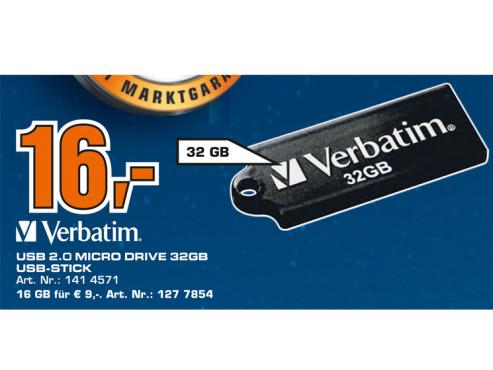 Verbatim Store 'n' Go Micro 32GB ©Saturn