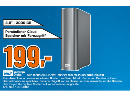 Western Digital My Book Essential USB 3.0 3TB © Saturn