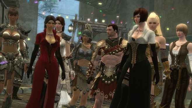 Online-Rollenspiel Guild Wars 2: Party © NCsoft