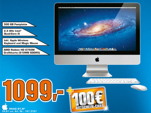 "Apple iMac 21,5"" (MC309) © Saturn"