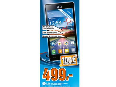 LG Optimus 4X HD © Saturn