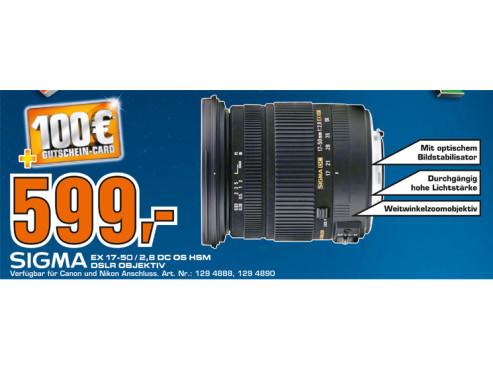 Sigma 17-50mm f2.8 EX DC OS HSM [Canon] ©Saturn