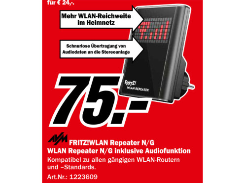 AVM FRITZ!WLAN Repeater N/G ©Media Markt