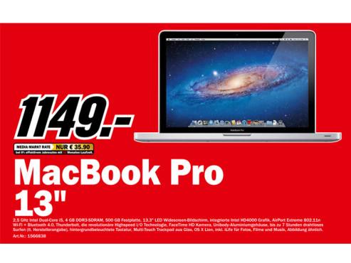 "Apple MacBook Pro 13"" (MD101D/A) ©Media Markt"