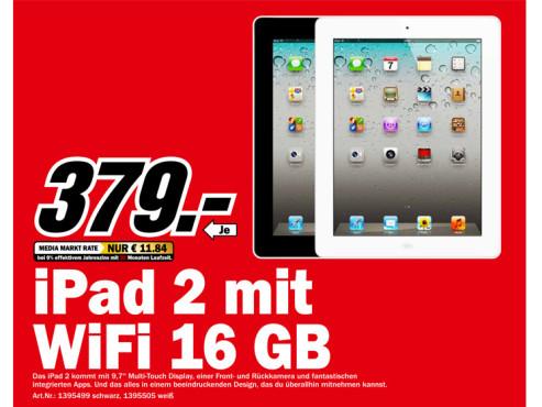 Apple iPad 2 16GB WiFi ©Media Markt