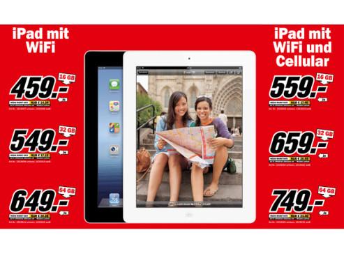 Apple iPad (dritte Generation) ©Media Markt