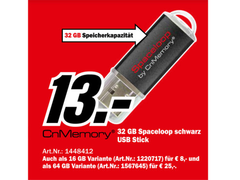 CnMemory Spaceloop XL 32GB ©Media Markt