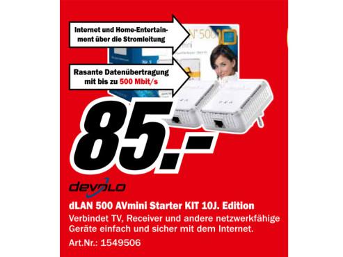 Devolo dLAN 500 AVmini Starter Kit ©Media Markt