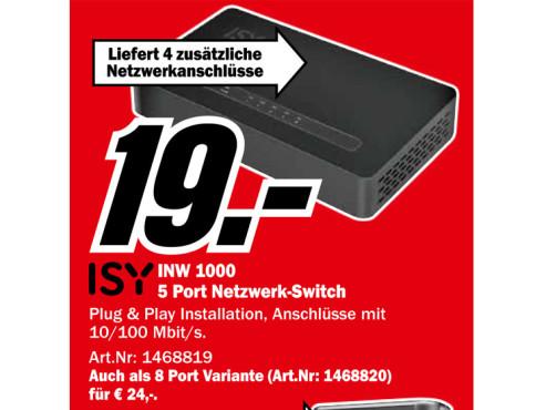 Isy INW 1000 ©Media Markt