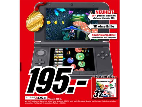 Nintendo 3DS XL ©Media Markt