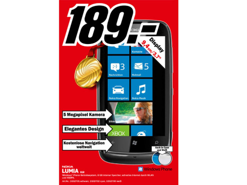 Nokia Lumia 610 ©Media Markt