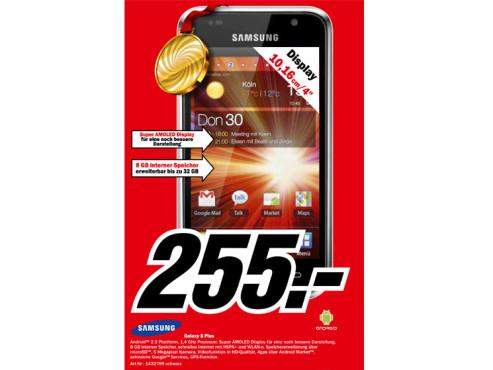 Samsung Galaxy S Plus ©Media Markt