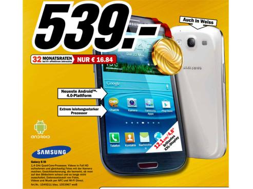 Samsung Galaxy S3 ©Media Markt