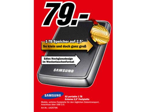 Samsung S2 Portable 1TB ©Media Markt