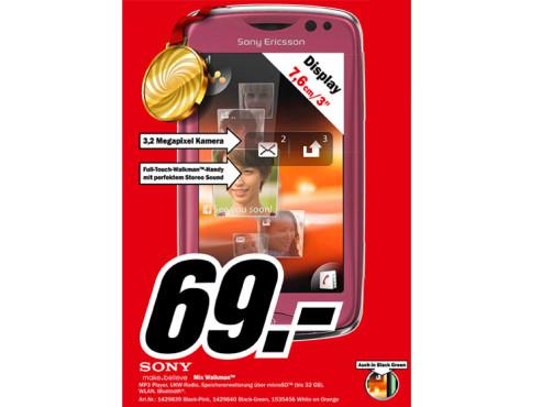 Sony-Ericsson Mix Walkman ©Media Markt
