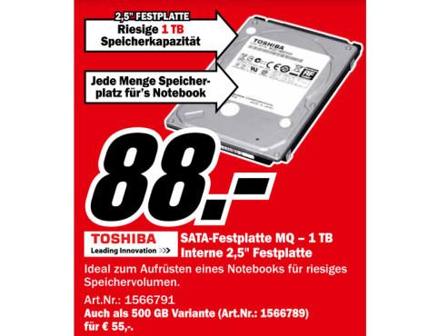 Toshiba MQ01ABD100 1TB ©Media Markt