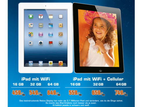 Apple iPad (dritte Generation) © Saturn