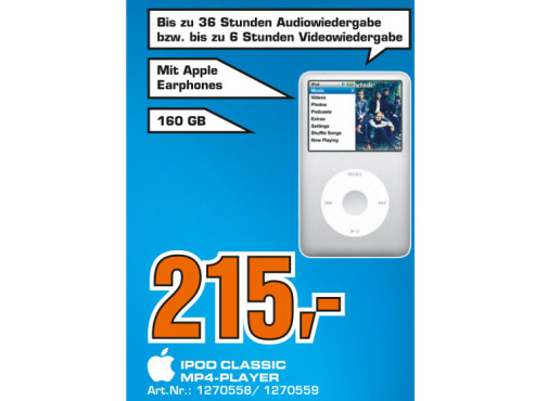 Apple iPod Classic 160GB (3. Generation) © Saturn