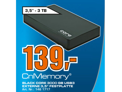 CnMemory 3.5 Core USB 3.0 3TB © Saturn